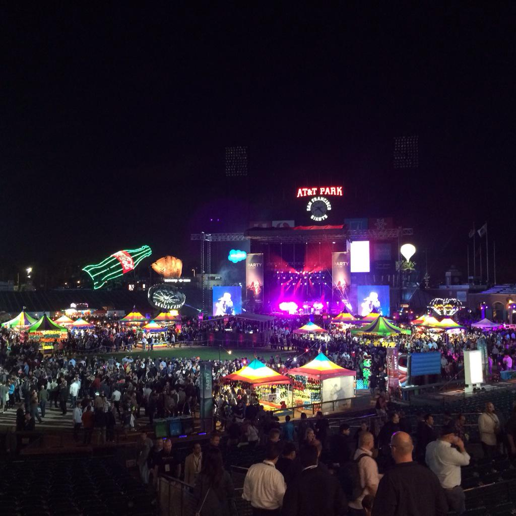 Photo of VMworld 2015 closing party at AT&T Park.