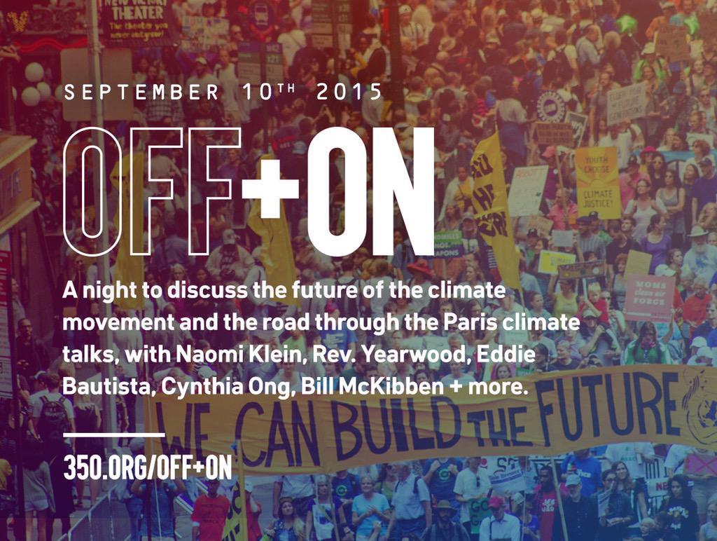 Next week: The Climate Movement & the Road Through Paris, 7 PM Thurs Sept 10th @BAM_Brooklyn https://t.co/qCxBxljHMp http://t.co/SbVuSRaO6M
