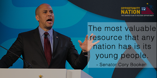 """""""The most valuable resource a nation has is its young people."""" - @corybooker at #OppSummit https://t.co/sy2CplNnIG http://t.co/rp3PYurLVo"""