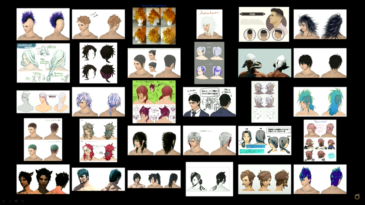 XIV Trivia And Fun On Twitter Some Of The Entries From The - Hairstyle design contest ffxiv