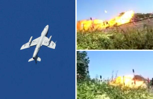 Spectators film moment plane nose dives then crashes into the ground at #Shoreham airshow http://t.co/CeYyavX2in http://t.co/HkGbd5L0FL