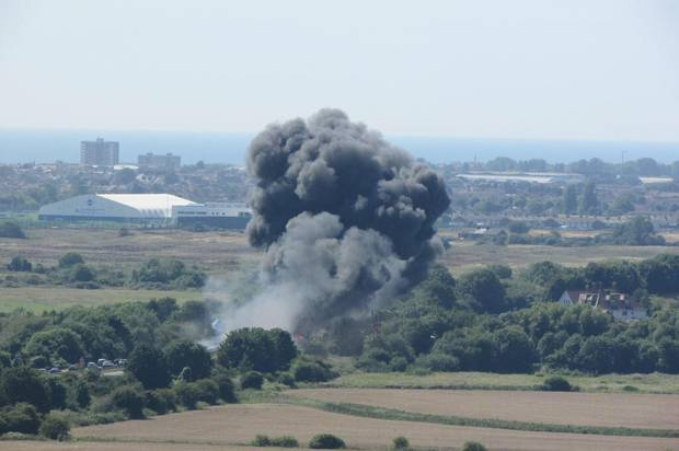 Incidente mortale al Shoreham Air Show in Gran Bretagna