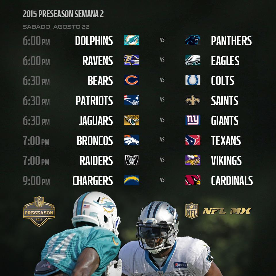 Nfl Mexico On Twitter Nfl Gameday Nflpreseason 2015 Semana 2