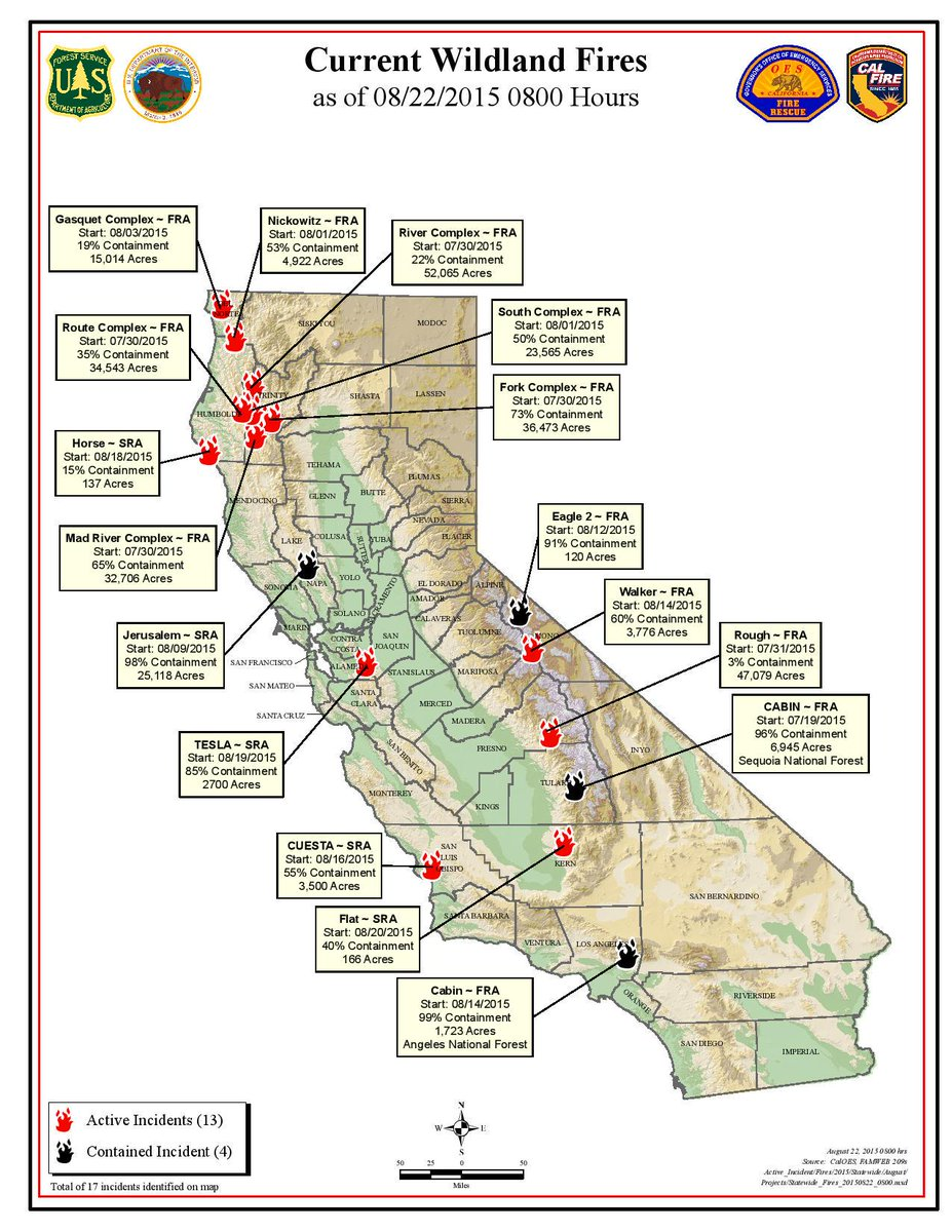 Current La Fire Map.Shasta Trinity Nf On Twitter Here Is Today S California Current