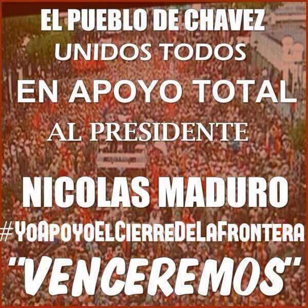 Para seguir mantniendo patria libre d contrabando y paramilitarismo #YoApoyoElEstadoDeExcepcion @NicolasMaduro RT http://t.co/xbUxz0VhtO