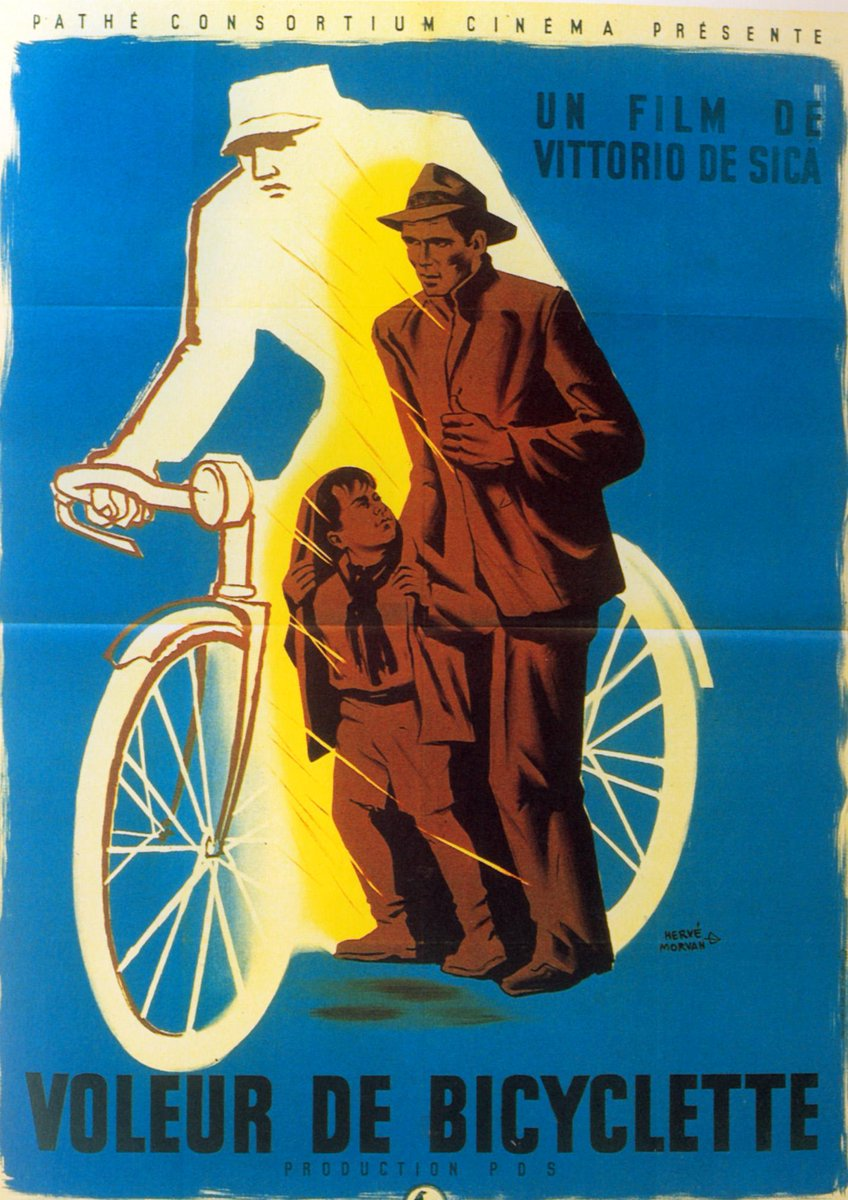 Favorite Posters for #BicycleThieves (#LadriDiBiciclette) - French Grande Poster by Herve Moran  Via Nevsepic pic.twitter.com/W9t9r52v9z