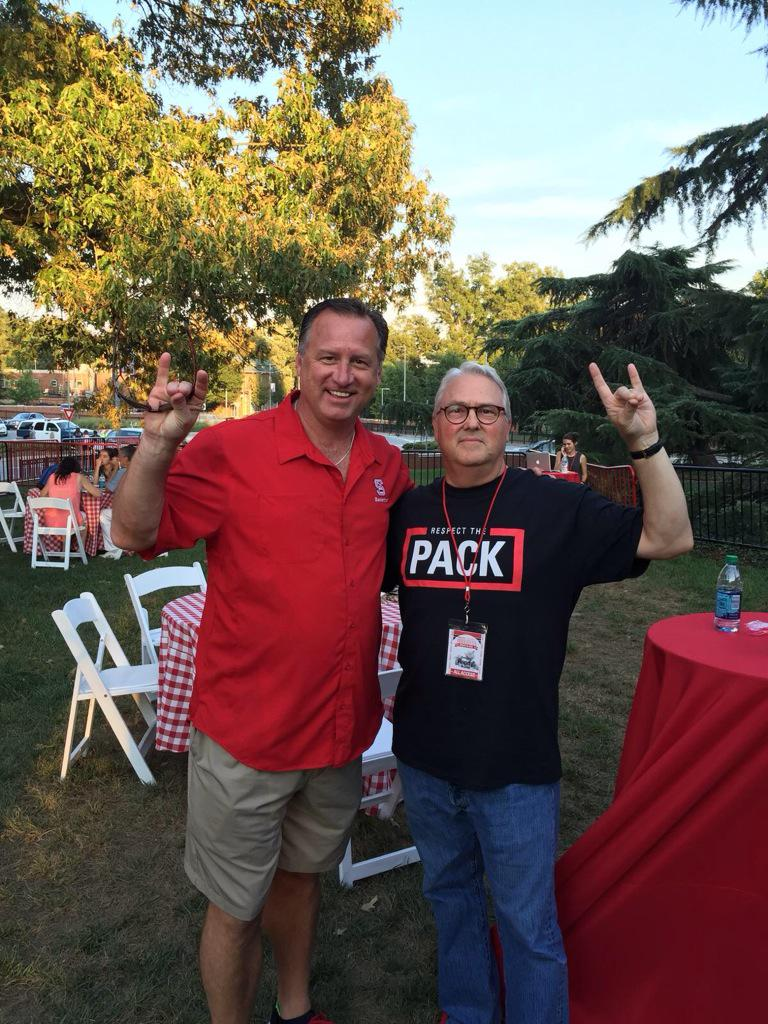 With Chancellor Woodson at #Packapalooza #gopack http://t.co/i1heEDK8Di