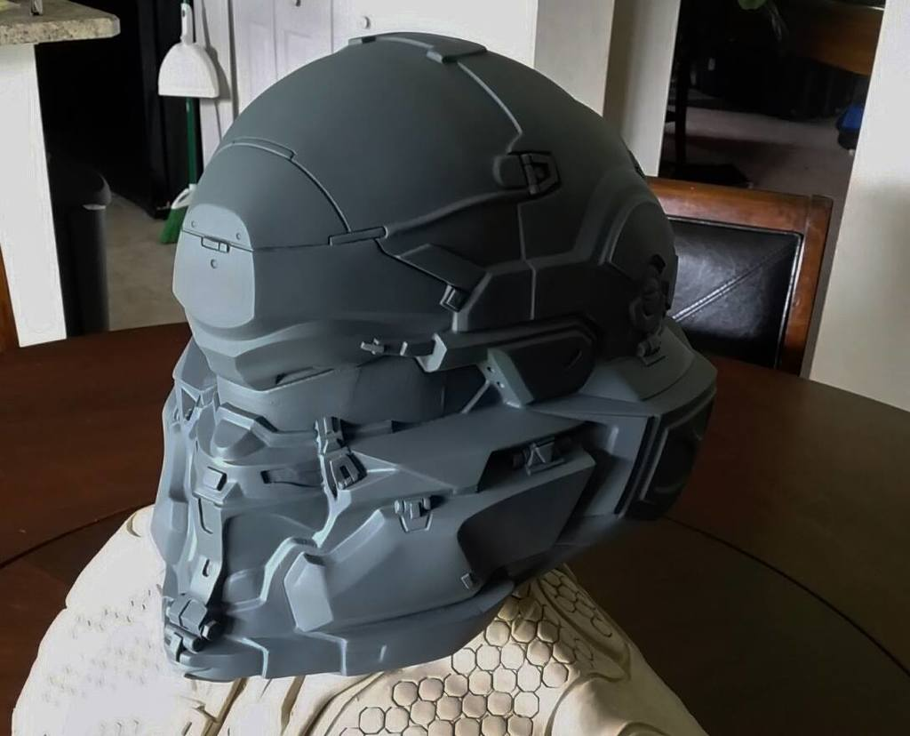 Halo 3 Helmet 3d Print : Ash Cycles