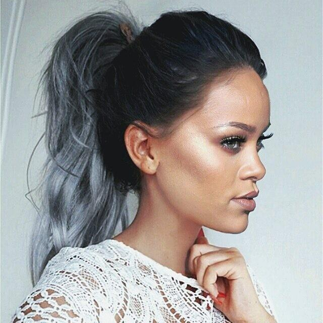rihanna m xico on twitter rihanna greyhair edit. Black Bedroom Furniture Sets. Home Design Ideas
