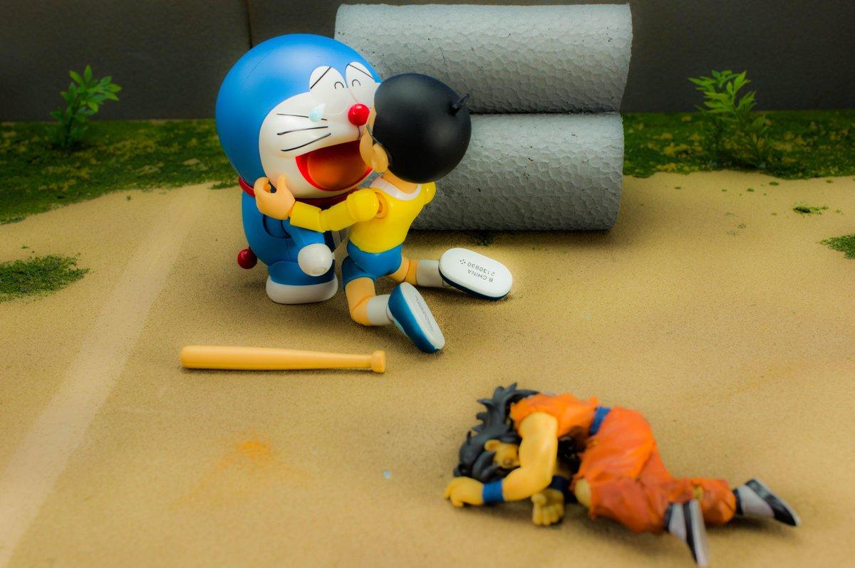 「見ただろ、僕一人の力でヤムチャに勝ったよ・・ これで安心して帰れるだろ?ドラえもん」 pic.twitter.com/VN253dGvCy