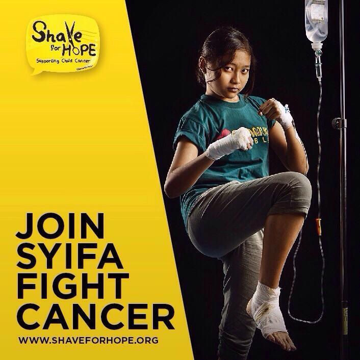 Kak, ada adik kita yang sedang berjuang. Bantu yuk! #ShaveForHope http://t.co/yB2UMNIVny