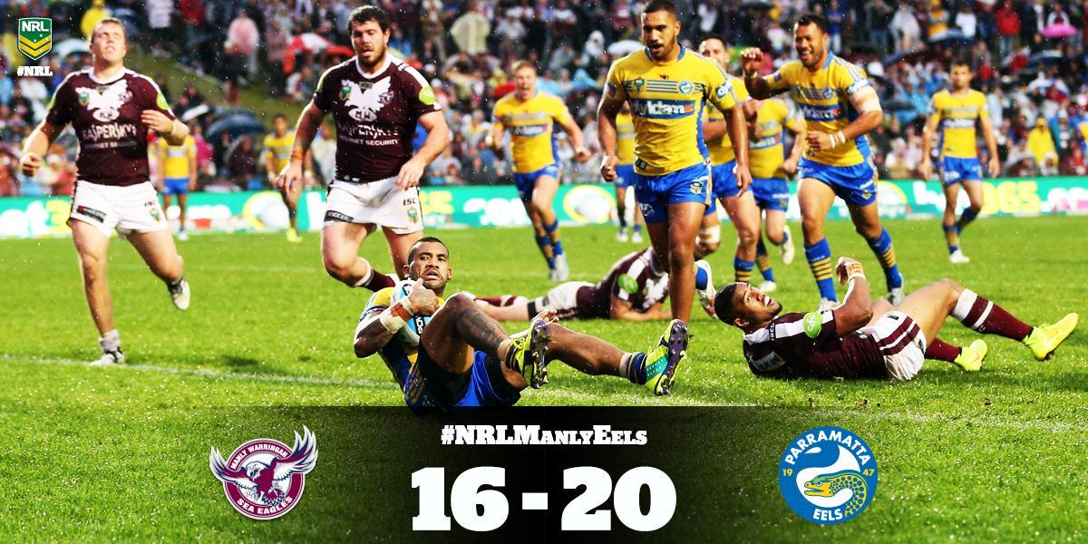 Eels wreak havoc on Manly's #NRLFinals chances after upset win at Brookvale Oval.  #NRLManlyEels  #NRL