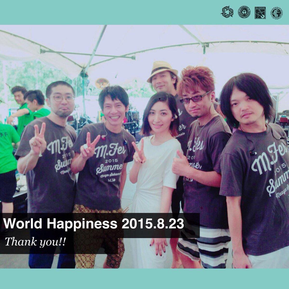 坂本真綾 WORLD HAPPINESS 2015 千ケ崎学(B)、佐野康夫(Drs)、松本圭司(Key)、北川勝利(Gt)、松江潤(Gt) http://t.co/bDYks9mhR2