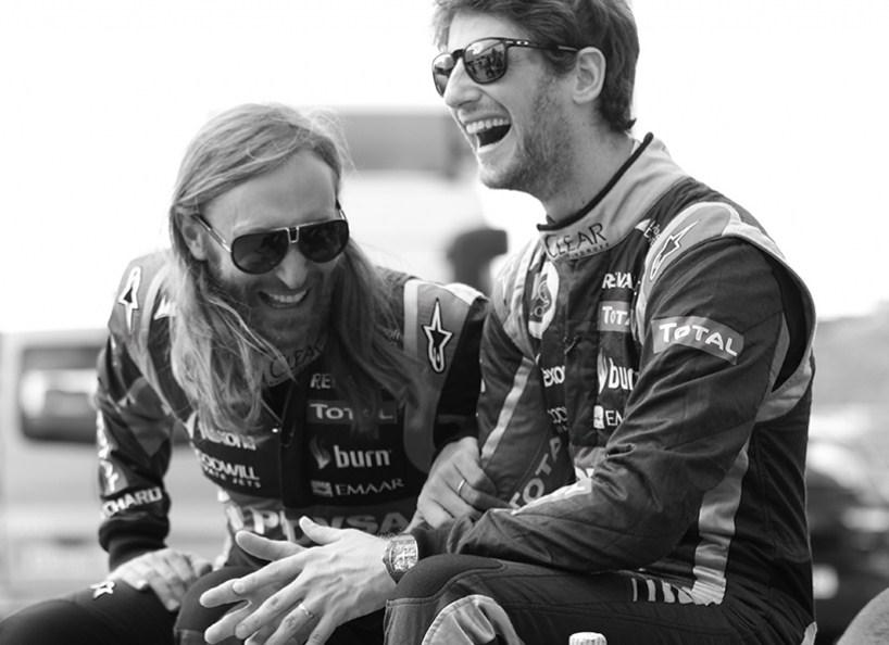 David Guetta e Romain Grosjean