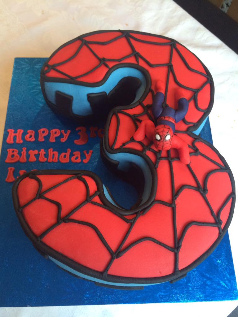 G Butterfly Bakery On Twitter Quot Spider Man Themed Number 3
