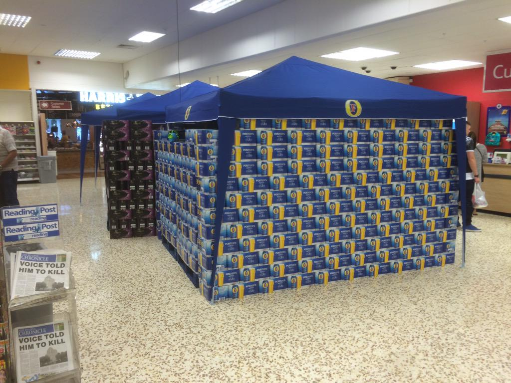 Tesco's preparing for Reading festival next weekend