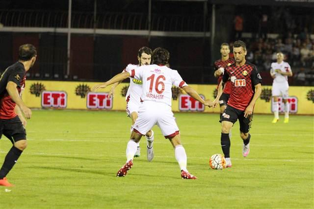 Muarem dribbles the ball during his debut