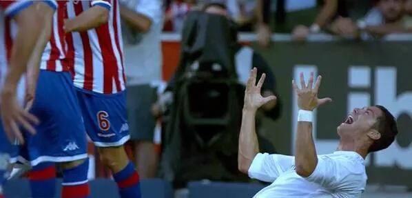 Cristiano Ronaldo Frustrated