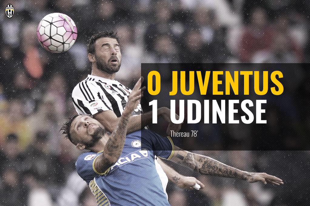 JUVENTUS-UDINESE 0-1 Video Gol: Thereau al 78', risultato clamoroso allo Stadium