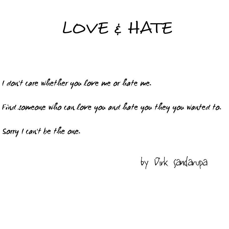 """Quotes About Love And Hate: Dirk Sandarupa On Twitter: """"#poetry #poem #quote #quotes"""