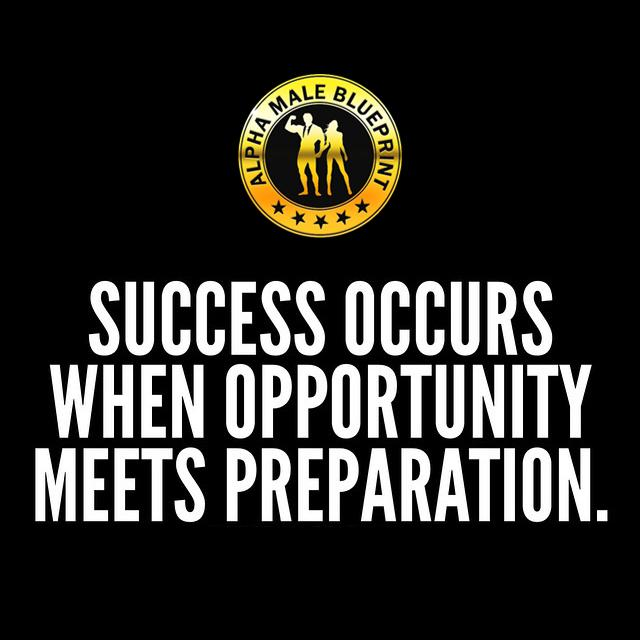 Alpha male blueprint on twitter success occurs when opportunity alpha male blueprint on twitter success occurs when opportunity meets preparation alphamaleblueprint iamalpha success httpt1kmgq0bupv malvernweather Gallery