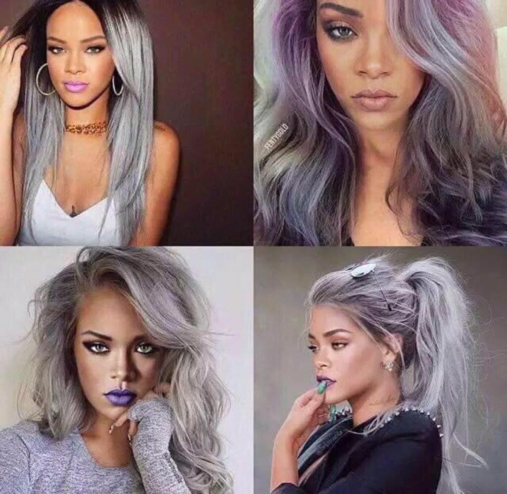 BBGS On Twitter Rihanna If She Had Grey Hair Tco ApQg9yBbSp