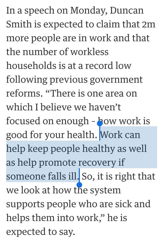 NHS crisis and lack of GPs dealt with as Dr Iain Duncan Smith prescribes one-off miracle cure of work. http://t.co/Roqu4QG4gi
