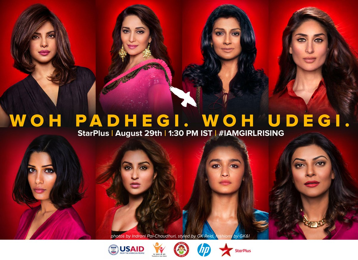 Joining hands for HER. Watch #IamGirlRising, 29th August, 1:30 PM on STAR Plus. http://t.co/LIMmky3yzU