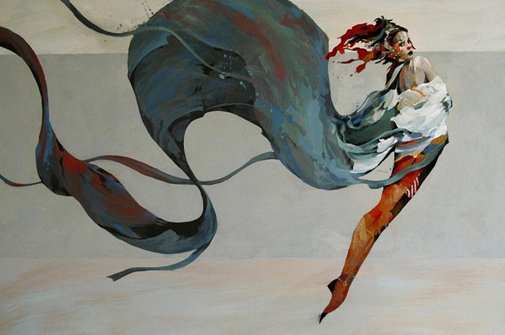ブルース・ホルワーダ(1954〜)による作品。アメリカの画家。ガラス細工やブロンズ彫刻に触発されて、ファンタジーの世界を描き出しています。