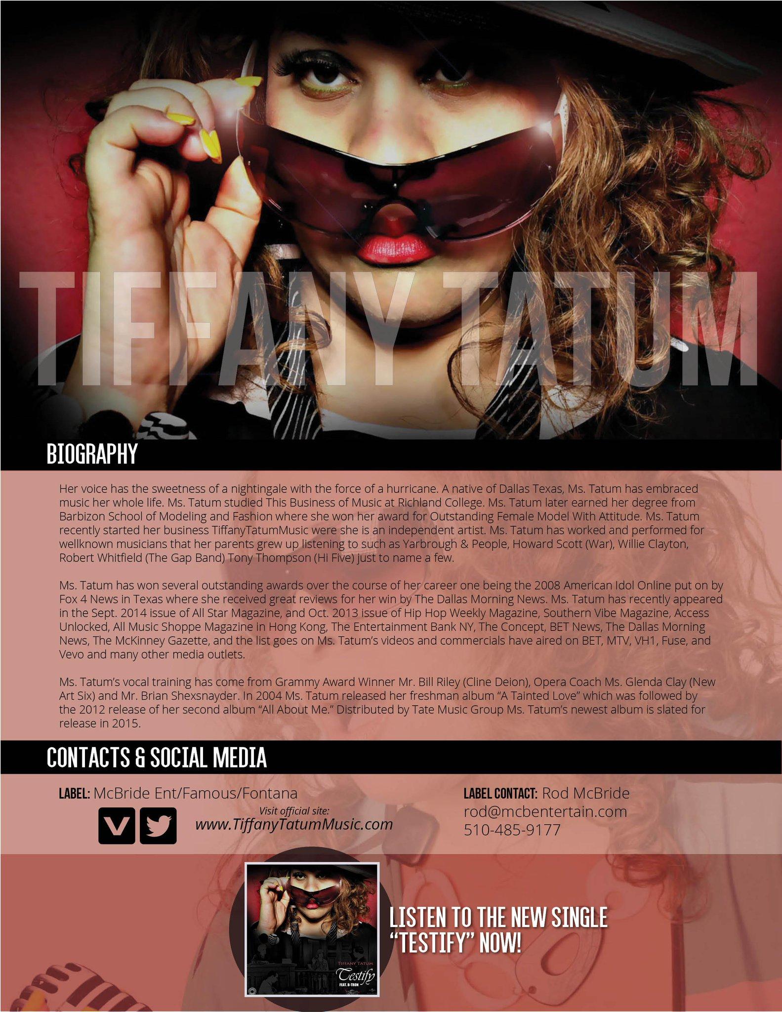 Dj Bankrupt On Twitter Newsong 1773 Tiffany Tatum Testify Via Mcbentertain On Mmmradio Http T Co Jwjpmdk5iw Http T Co 2idtl3sybr