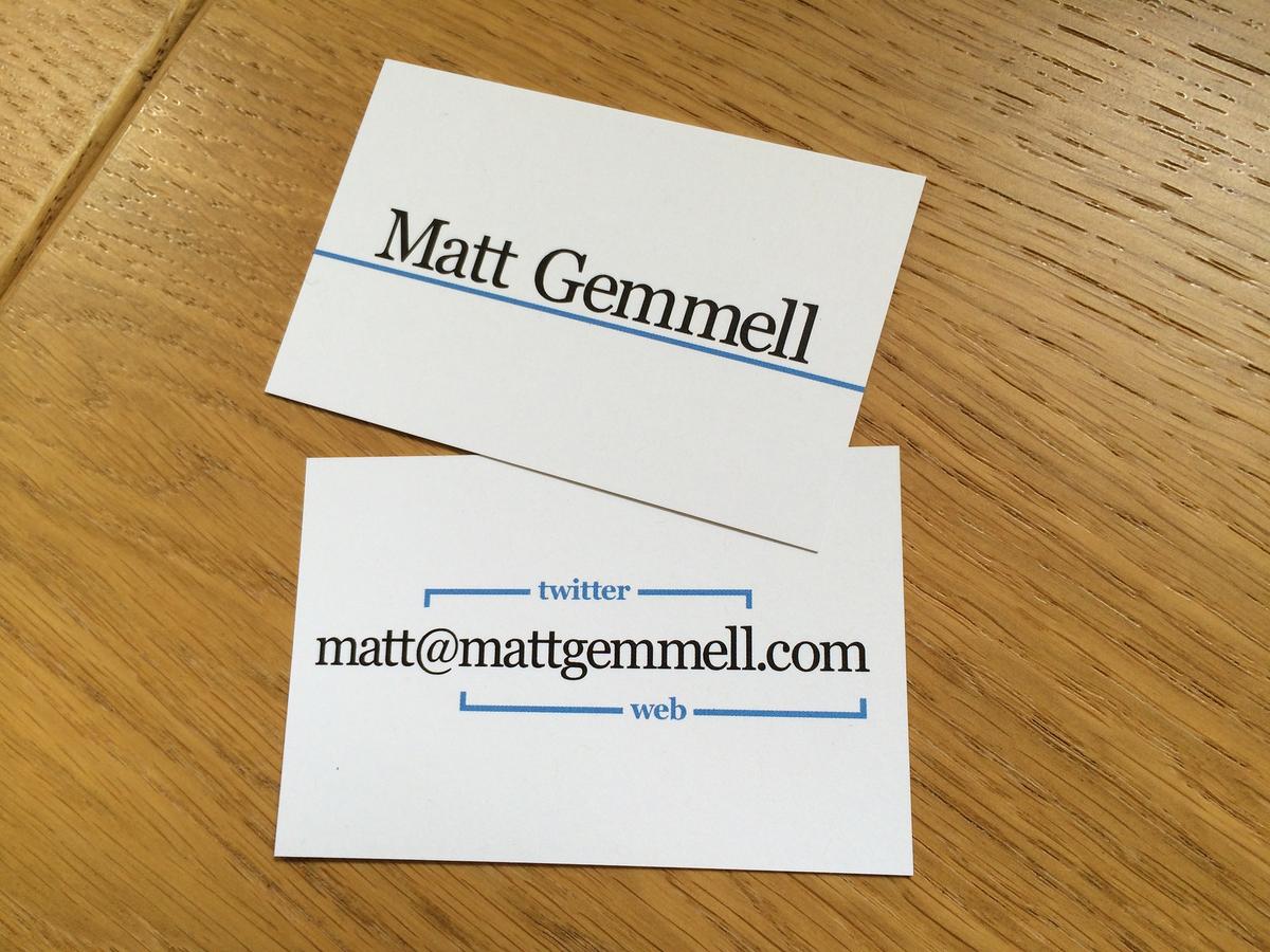 Matt Gemmell on Twitter: \
