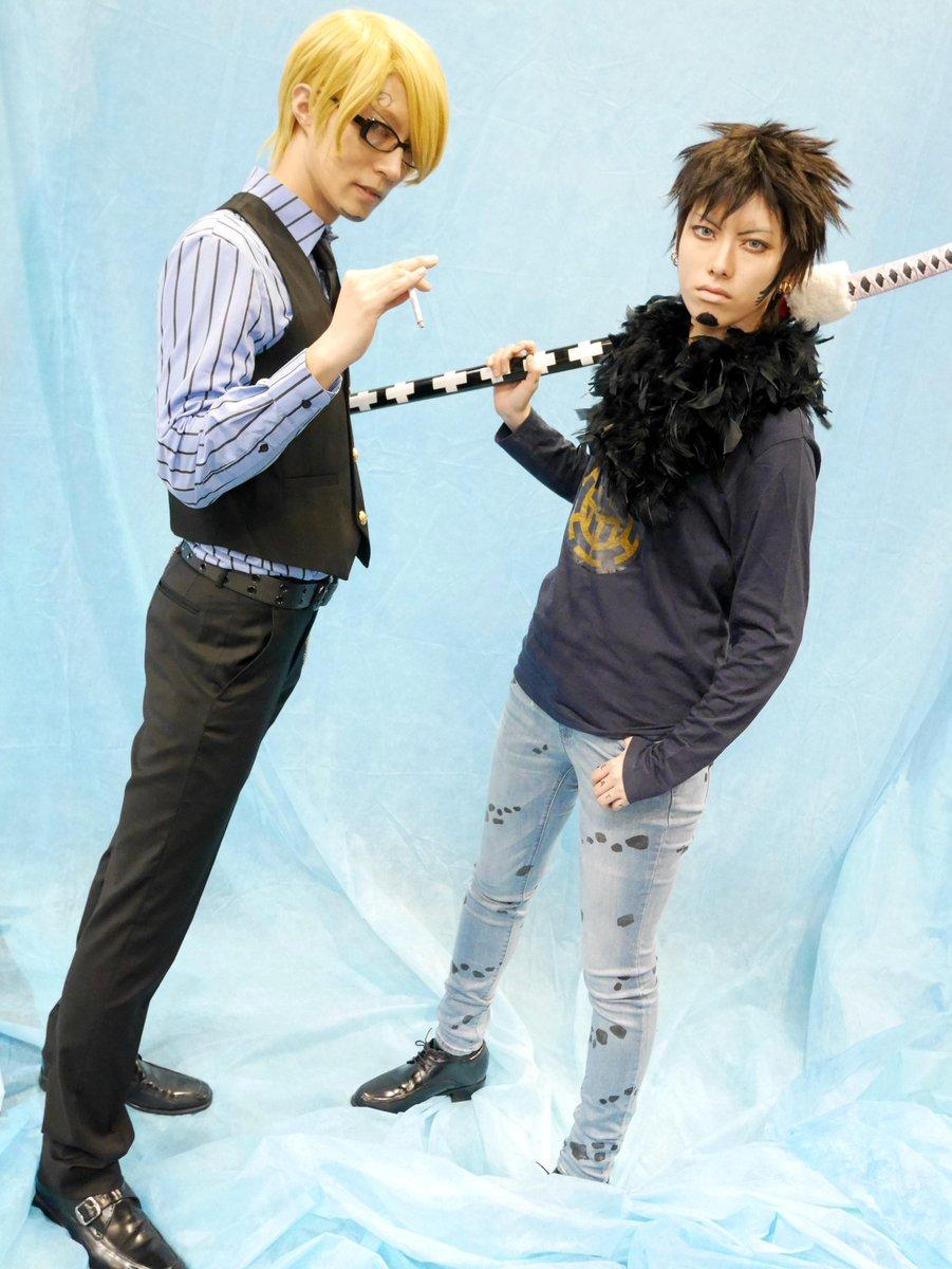 【コスプレ注意】 スパコミ関西 バーナビーのお写真はかねてより拝見してたあこさんのサンジくんと2ショット! うれしや!!! 脚長いし背は高いし目つき色っぽいし私正気保ててたか心配^q^  サンジ:あこーじさん(@ako_ji)