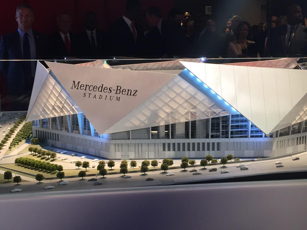 Mercedesbenzstadium on twitter here 39 s a look at the for Who owns mercedes benz stadium