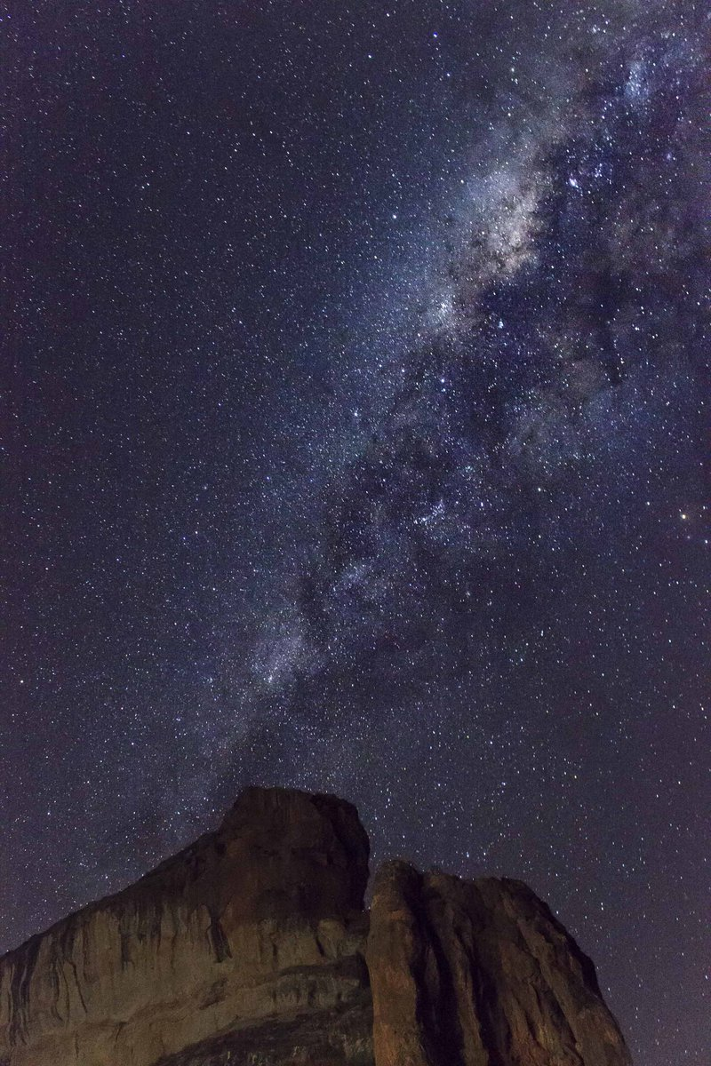 The glorious Milky Way, snapped just outside #Clarens, @SouthAfrica #travel #photography @ClarensTourism http://t.co/p5wQYYZCKa