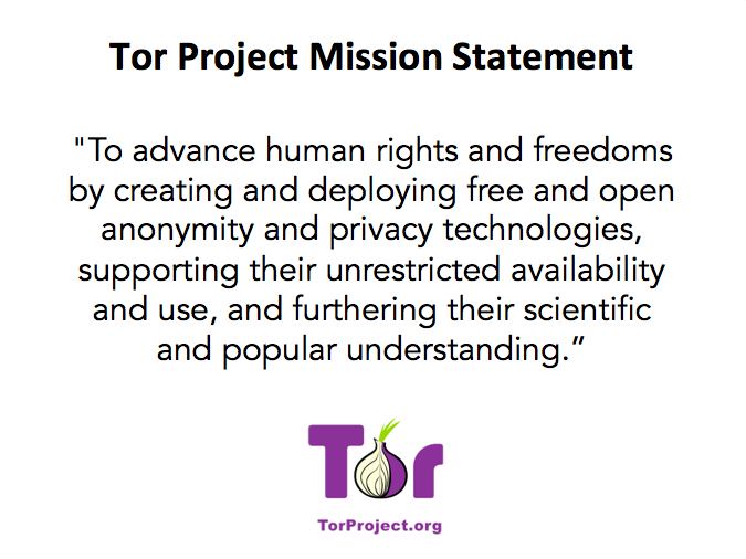 The Tor Project has a brand new mission statement! http://t.co/a8HhfHgyxX