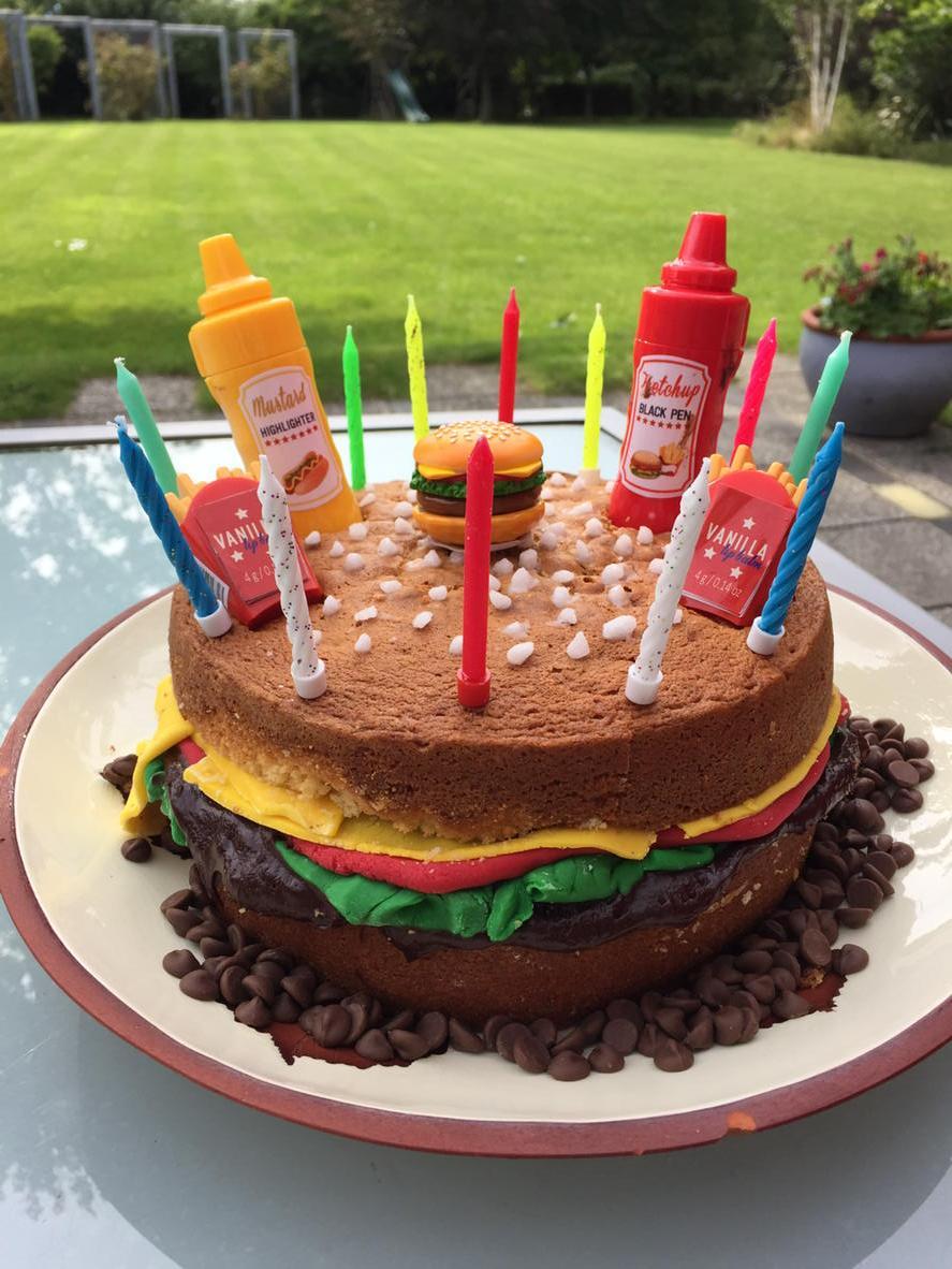 Ed Balls On Twitter A Cheeseburger Cake My Third Kids Birthday