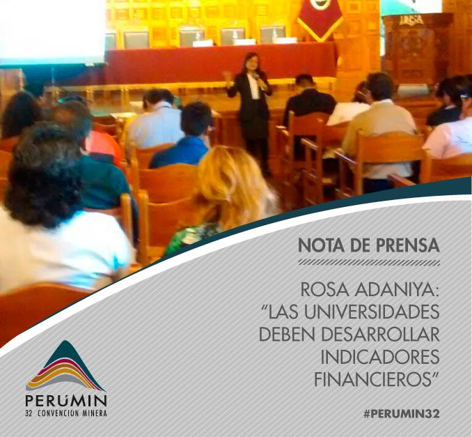 Thumbnail for ¡Rosa Adaniya dictó conferencia magistral en Rumbo a PERUMIN!