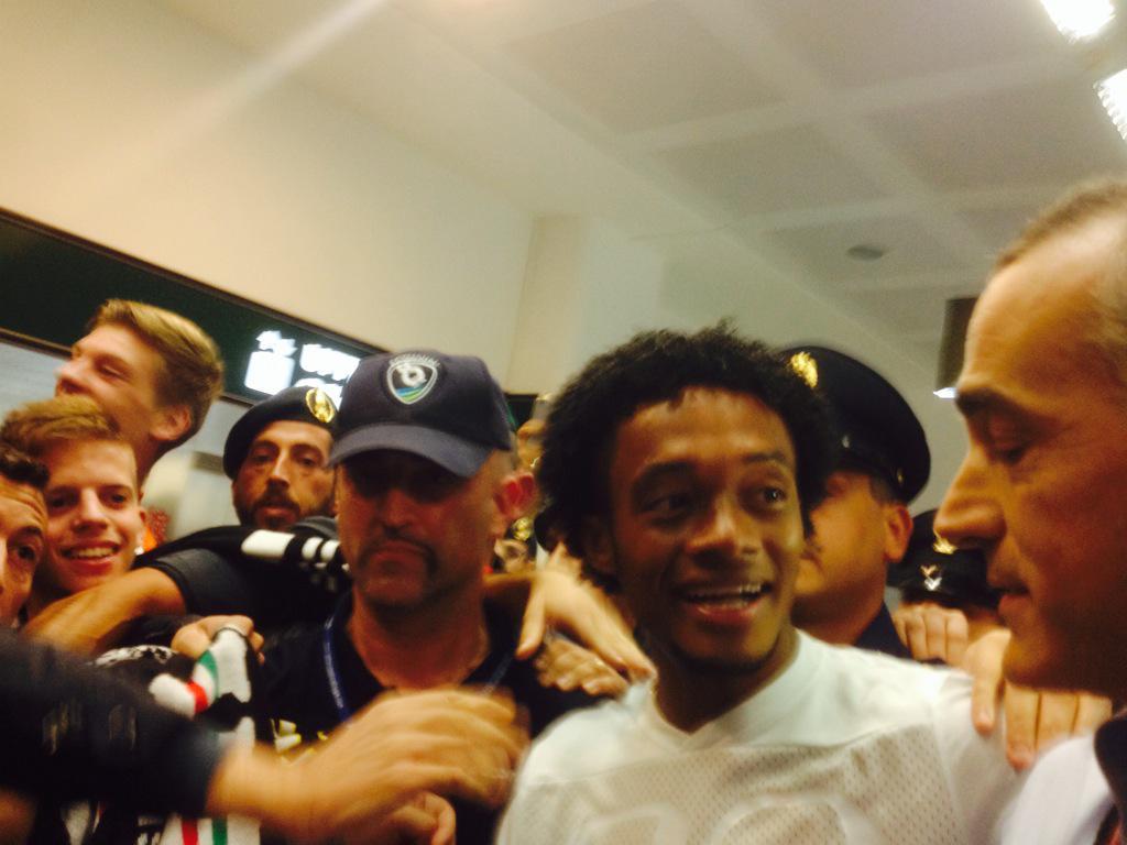 Cuadrado arrivato in Italia per giocare con la Juventus