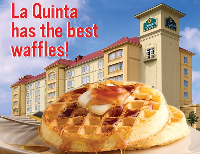 It's #NationalWaffleDay ! Share this image using #LQwaffle and you could be selected to win a free night! http://t.co/Vz5vbEwPJj