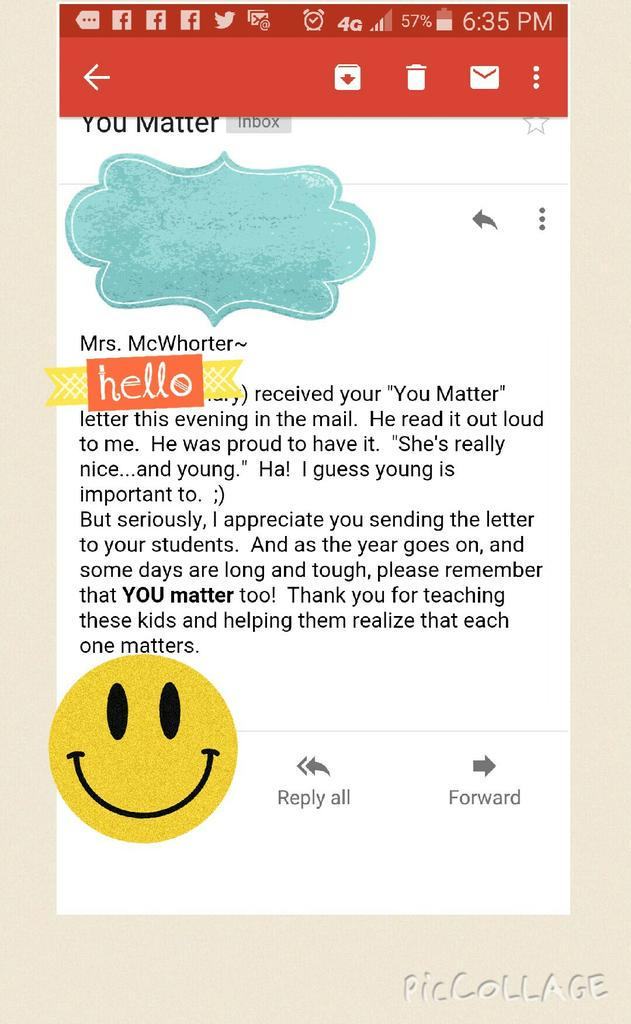 This is what it is all about! Building relationships with just a mailed letter YOU MATTER @AngelaMaiers @Mann4Edu http://t.co/f74govK4N3