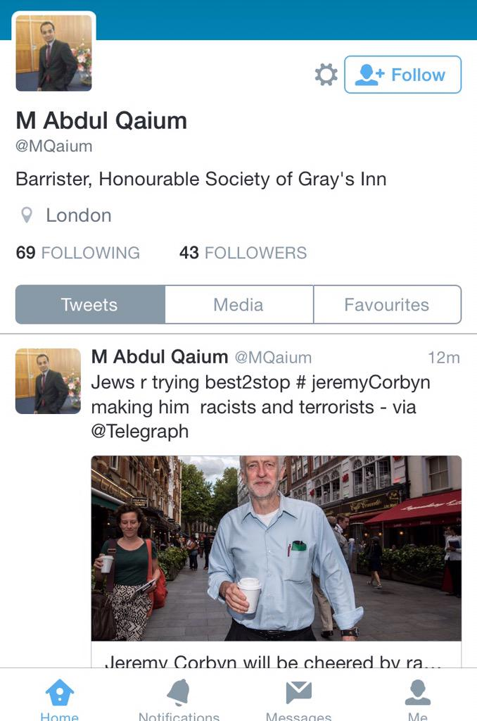 Wow. Written by a British barrister from @HonSocGraysInn. (Except he quickly deleted it) #Corbyn http://t.co/lvzZ4aqDRd