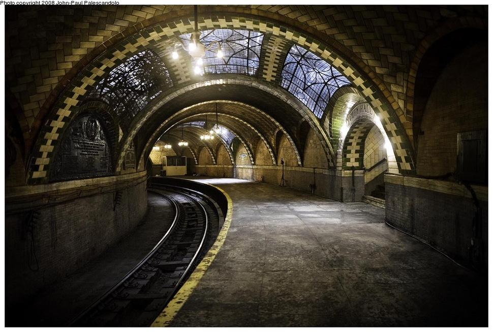 #ArtNouveau Awesome of the Day: #Steampunk|ish Subway Station under #CityHall, #NYC  via @Seishonagon3 #SamaPlaces