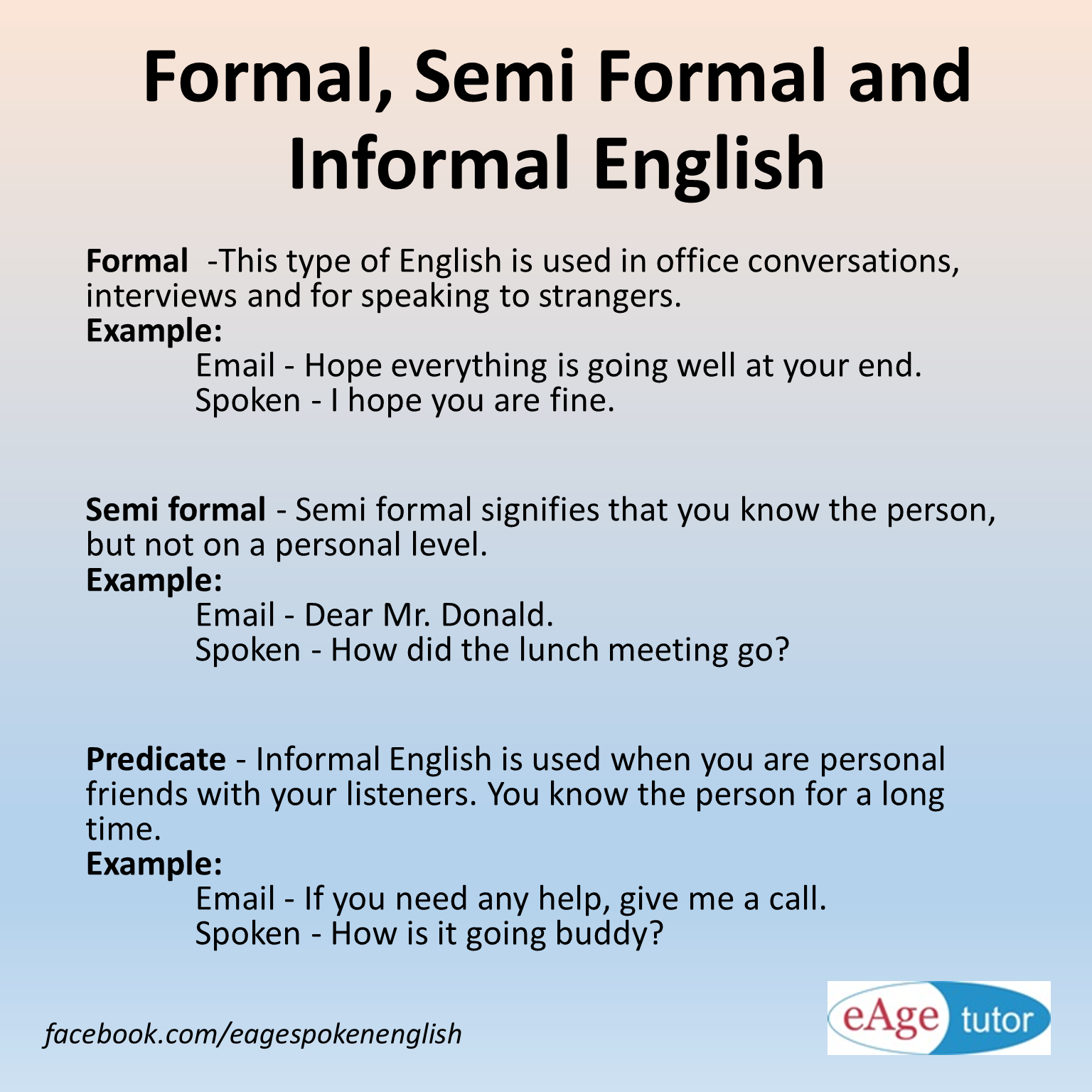 Eage spoken english on twitter do you know what difference eage spoken english on twitter do you know what difference between formal semi formal and informal english learn more httptpxvueqcrfh ccuart Gallery