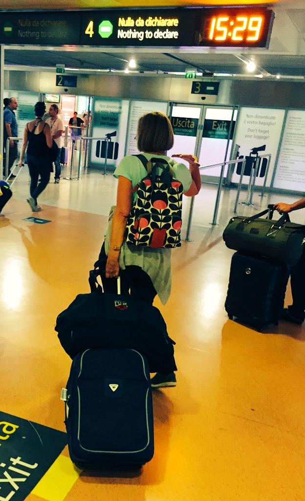 It looks like @annaproudfoot doesn't know how to travel lightly for a 4-day conference. 😜 #eurocall2015 http://t.co/KJe5lJy2bb