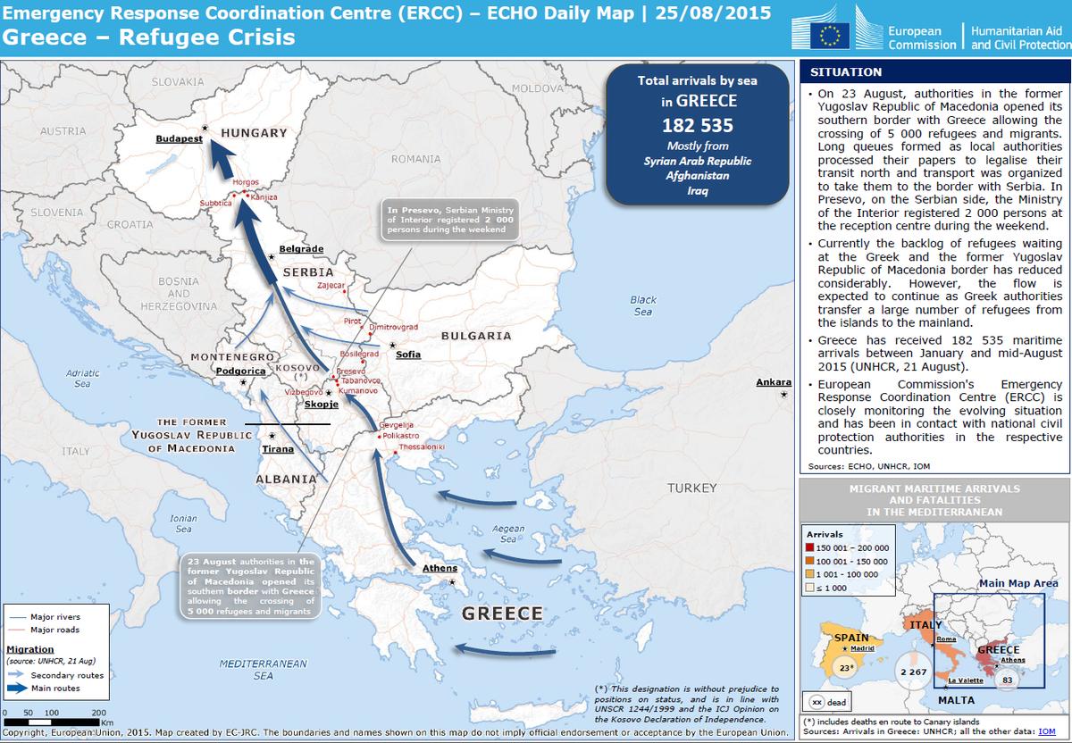 Alejandro alvarez on twitter euecho daily map refugee crisis euecho daily map refugee crisis in the balkans 182535 migrants through greece since jan from syria iraq httptsapj5b5ml1 gumiabroncs Choice Image