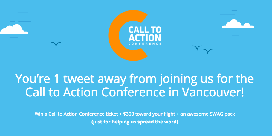 Click --> tweet --> win! We're giving away a trip to Vancouver for #CTAConf + awesome SWAG: http://t.co/PfxGiFX269 http://t.co/eFptXOfyBd