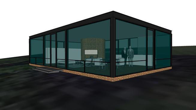 Philip johnson glass house model