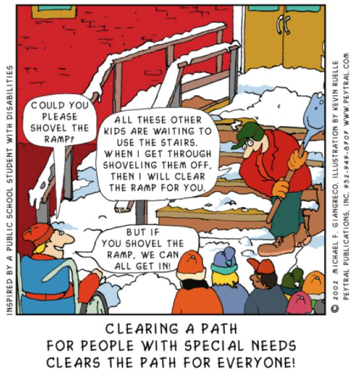Clearing a path for people with special needs clears the path for everyone.