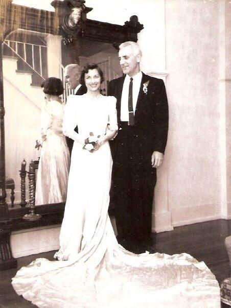 Here's Mima & Papa on their 25th wedding anniversary, she still fit in her wedding dress! http://t.co/xGxkQI5cS0
