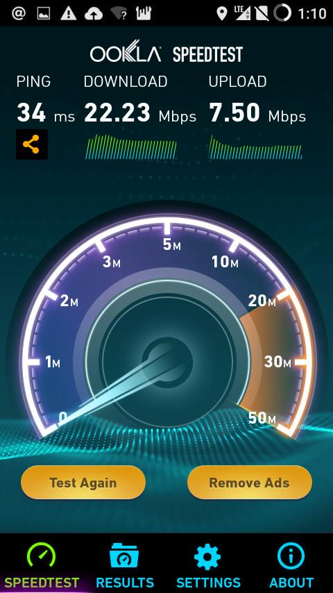 Speed Test Smartfren 4G LTE Advanced Yogyakarta